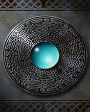 Blue drop orb