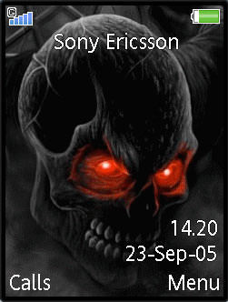 Download animated black skull theme