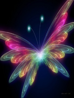 Download Neon Butterfly Mobile Wallpapers Mobile Fun