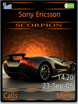 Scorpio car sony ericsson mobile theme