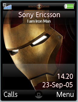 Iron Man Mobile Theme