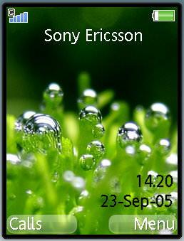Dew Green Grass Mobile Theme