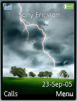 Lightning Clouds Mobile Theme