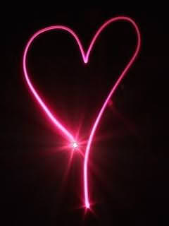 Heart With Pink Light Wallpaper