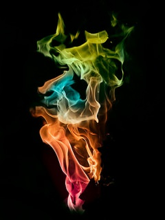 rainbow fire background - photo #7