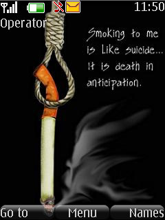 Smoking Is Suicide S40 Theme