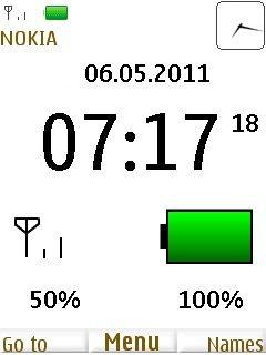 download free battery clock s40 theme auto design tech