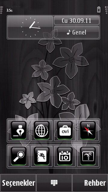 xtreme transparent kauo s60v5 theme bar1 black flowers s60v5 theme