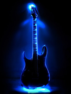 Neon Guitar Wallpaper