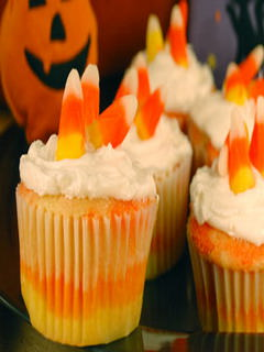 This Candy Corn Cupcakes mobile wallpaper is compatible for Nokia ...