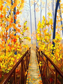 This Autumn Way mobile wallpaper is compatible for Nokia, Samsung, Htc