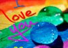 Colors Drops Love Wallpaper