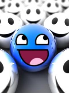 Download Blue Smile Wallpaper - Mobile Wallpapers - Mobile Fun