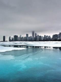 frozen-lake-and-city-wallpaper