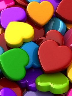 Download Beautiful Hearts Wallpaper Mobile Wallpapers