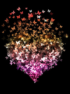Download colors Heart Butterfly Wallpaper - Mobile Wallpapers - Mobile Fun