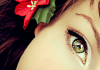 Beautiful Eye And Flower iPhone Wallpaper
