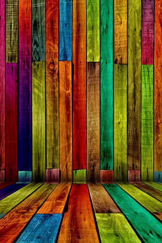 Download Colorful Wood iPhone Wallpaper Mobile