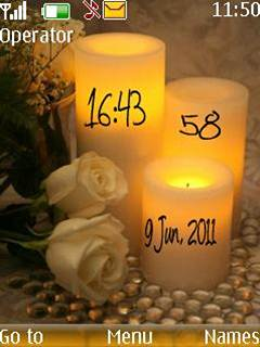 Candle Clock Theme