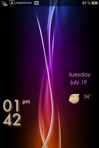 LS Aurora iPhone 4 theme