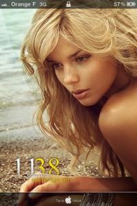 LS Girl iPhone 4 theme