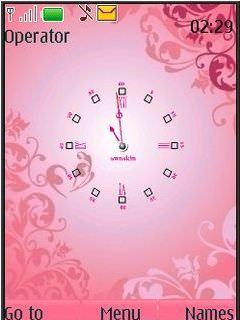 Pink Clock swf
