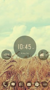 Simply Rounds Widgets Skin Theme for UCCW
