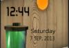 Batter Live Clock S40 Theme