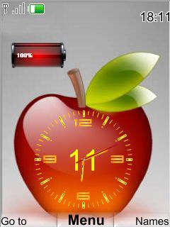 Apple Clock Theme