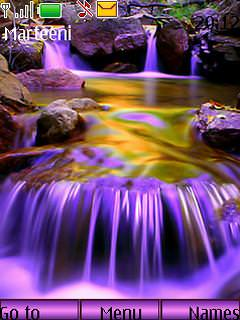 Download Purple Waterfalls Nature S40 Theme - Free Nokia ...