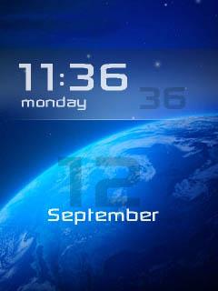 space 3d clock theme