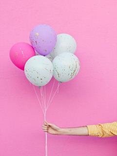splattered ballons