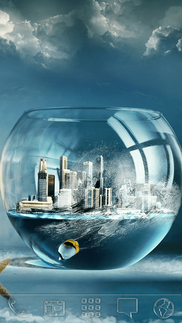 download city  u0026 fish on bowl android theme