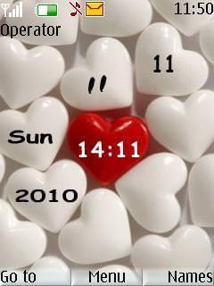 Hearts Clock