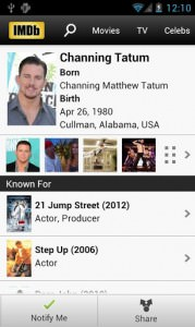 IMDb Movies & TV 3.3.2.103320110