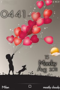 LS BalloonsHearts iPhone 4 theme