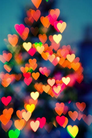 Love Wallpaper For Iphone 3gs : Download colors Bokeh Hearts iPhone Wallpaper - Mobile ...
