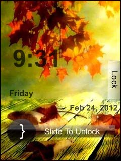 Autumn Clock Theme