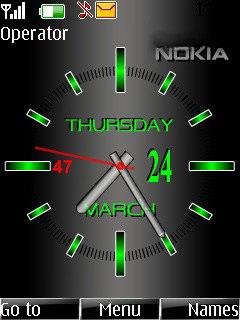 Часы зимний натюрморт - тема для мобильных телефонов.