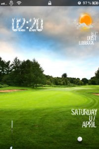 LS Golf Slider iPhone 4S theme