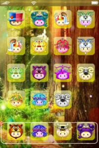 Cute cartoon face iPhone theme
